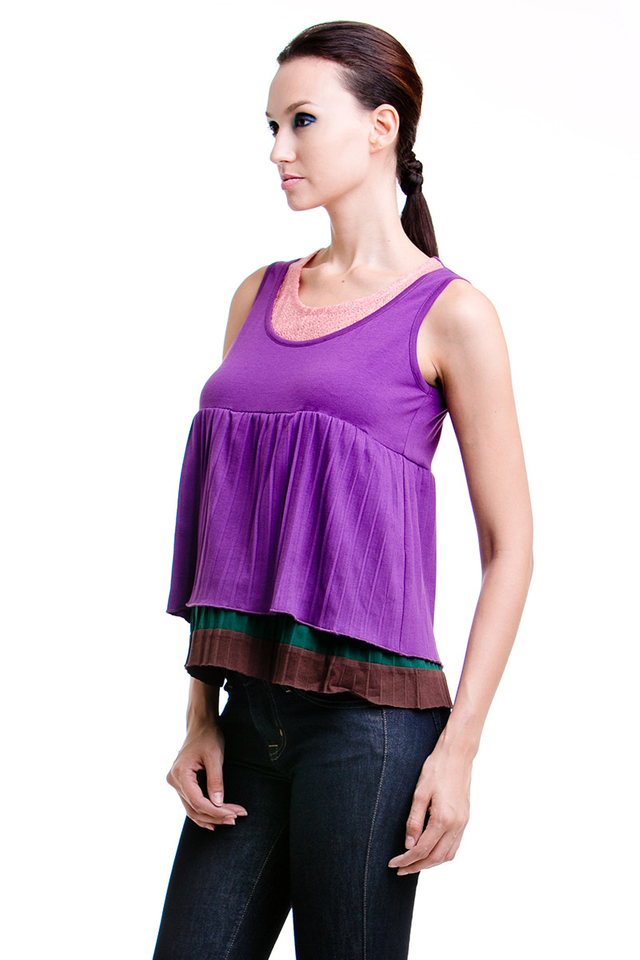 Becky Pleat Top Purple