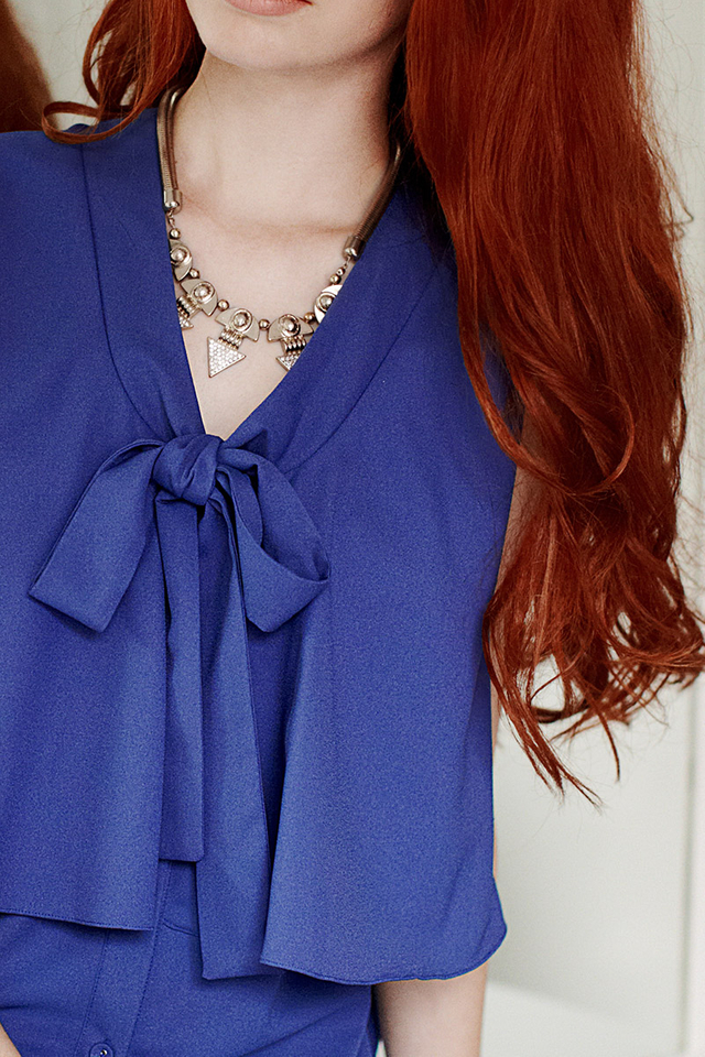 Tiffany Bow Top Blue
