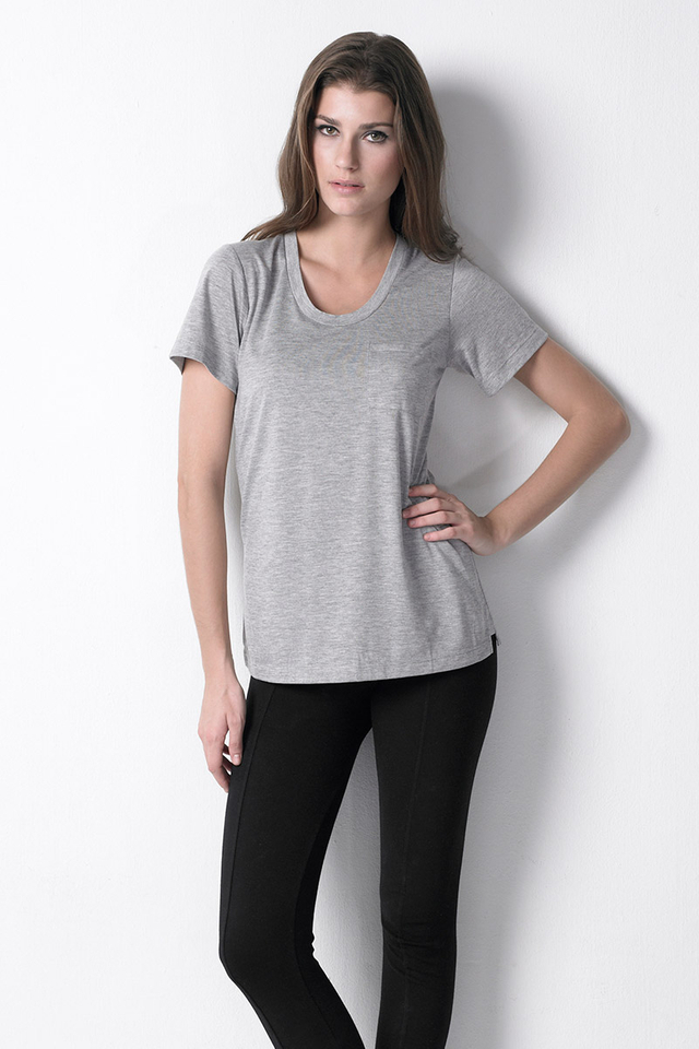 Pocket Tee Heather Grey