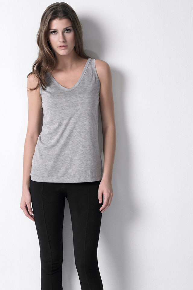 Classic Tank Heather Grey