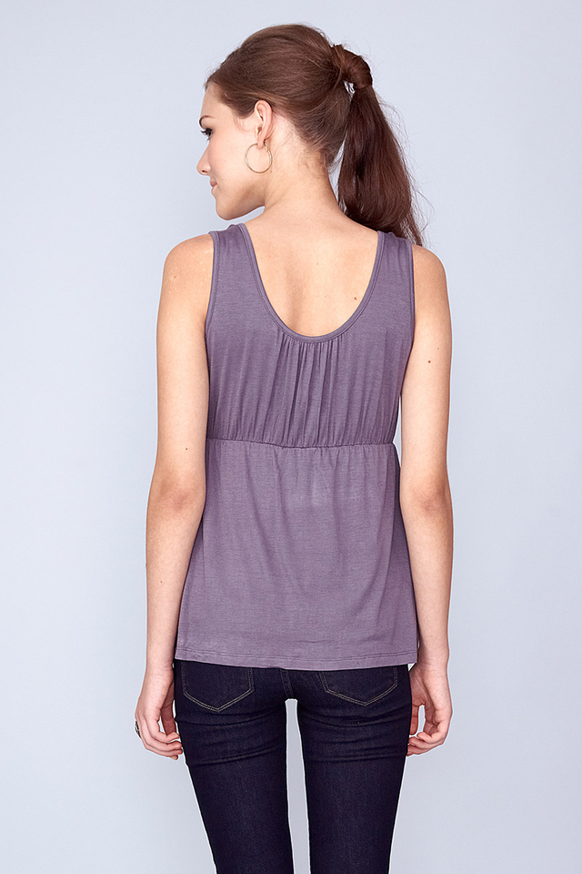 Jenna Reversible Top Grey