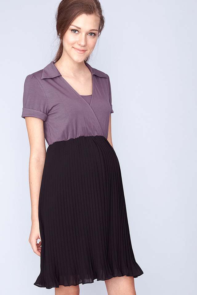 Addison Dress Grey/Black