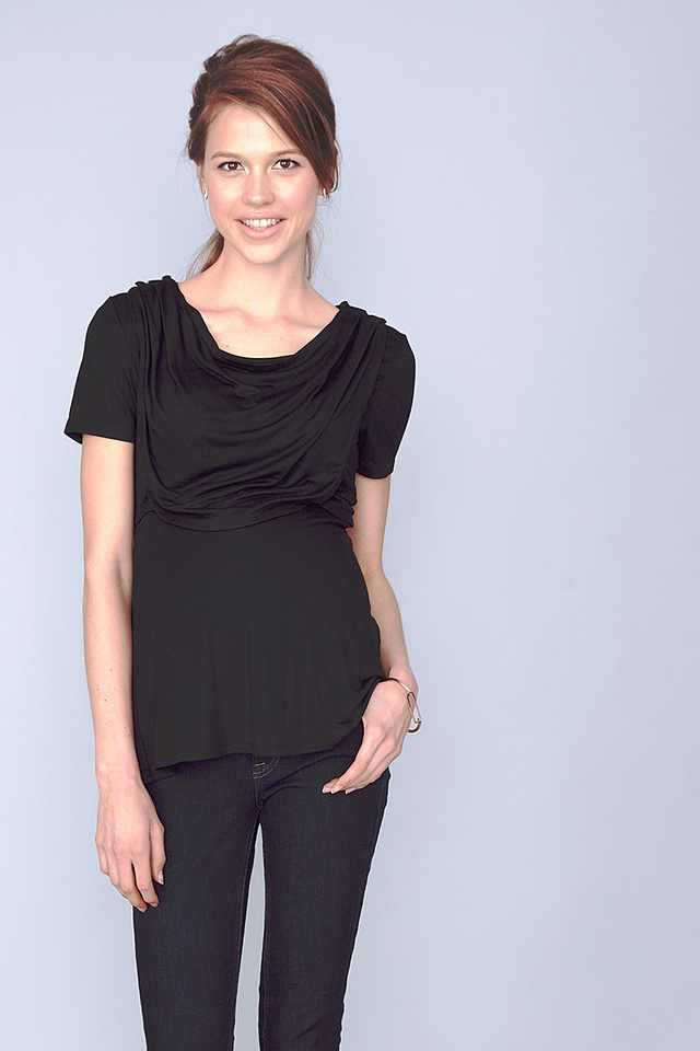 Sonia Cowl Top Black