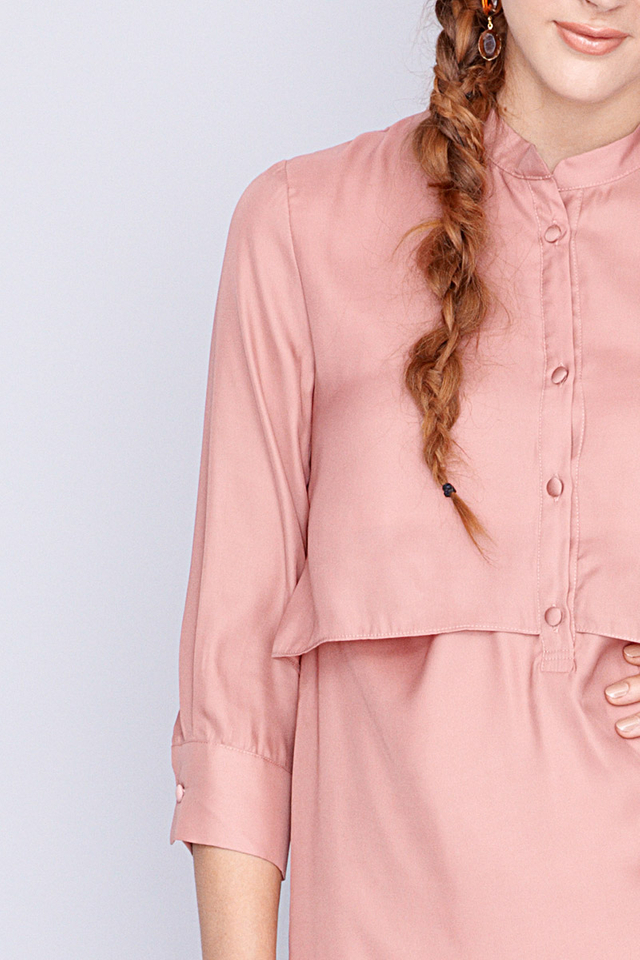Gabby Shirtdress Blush