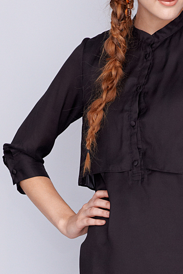 Gabby Shirtdress Black