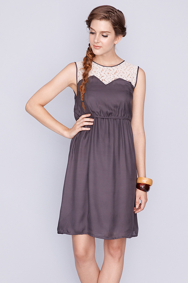 Gemma Dress Grey