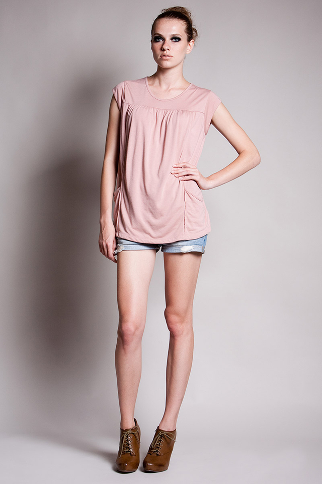 Lindsay Pocket Top Blush
