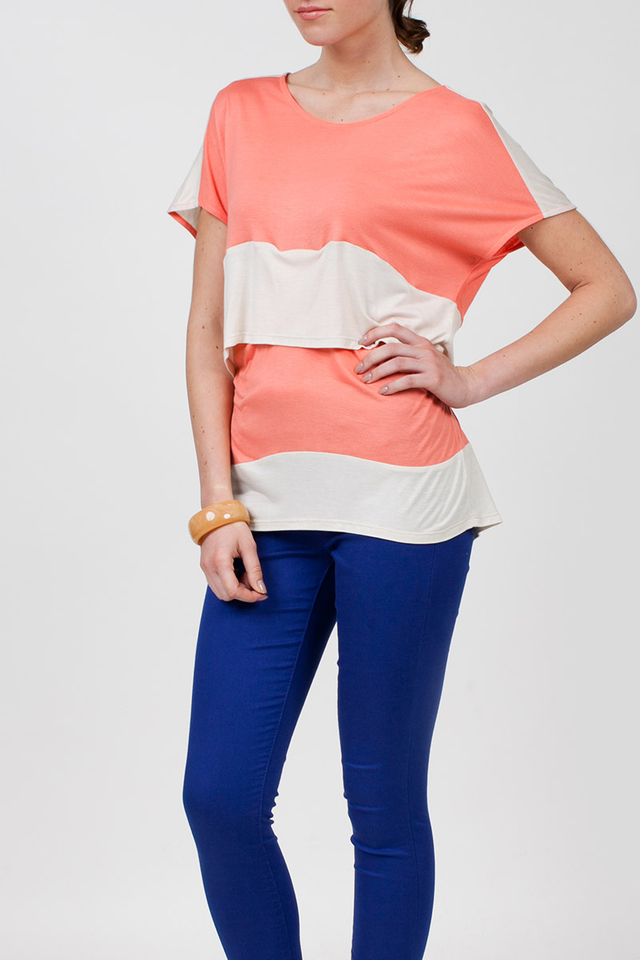 Sidney Top Peach/Beige
