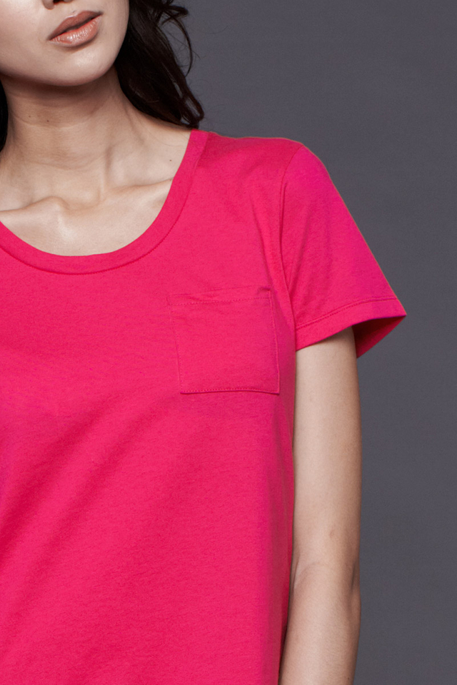 Pocket Tee Fuchsia