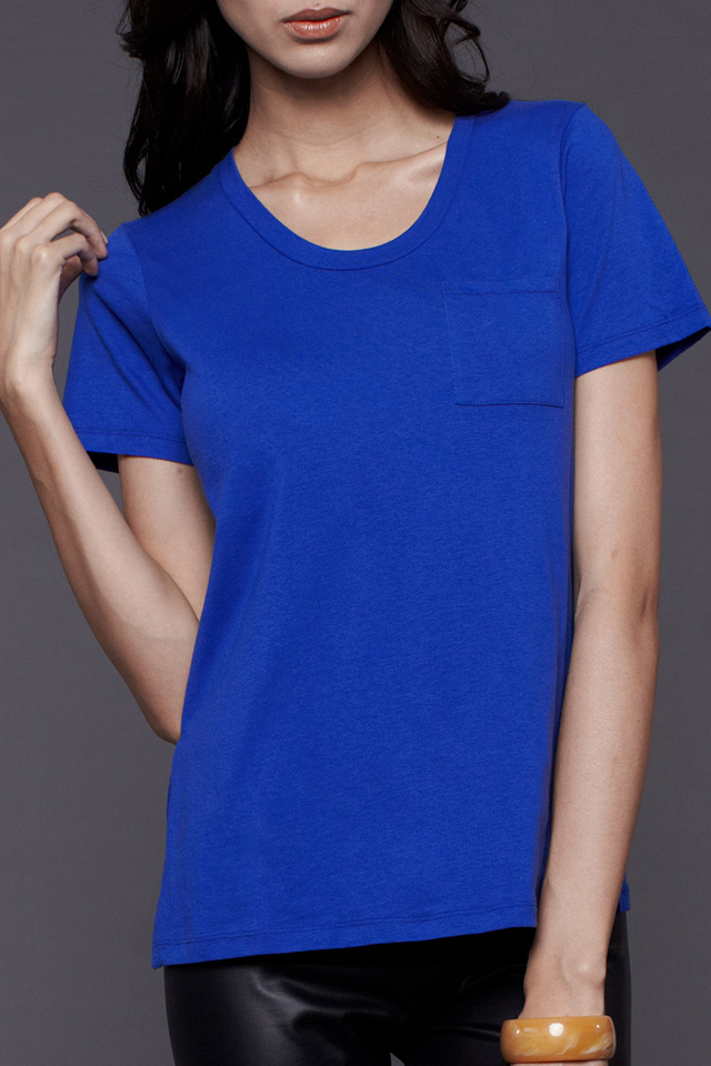 Pocket Tee Electric Blue