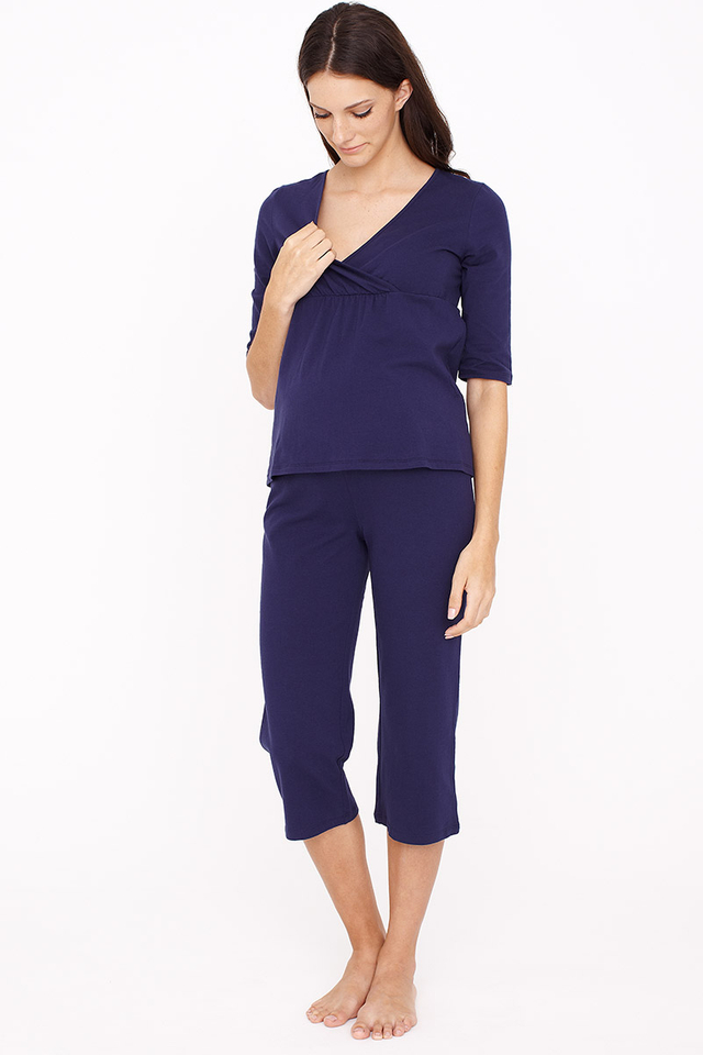 3/4 Sleeve Pyjamas Navy