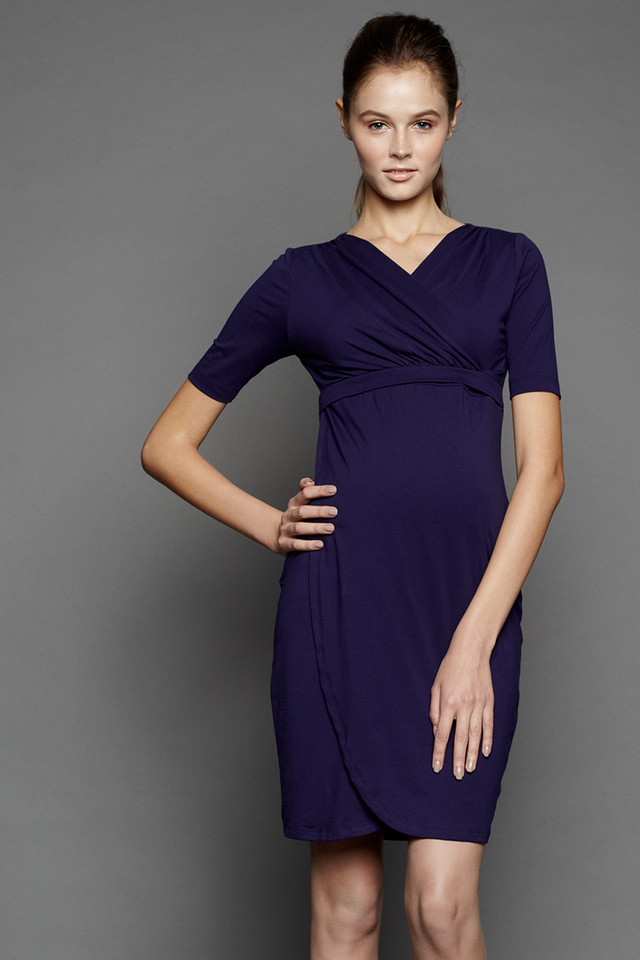 Ellen Wrap Dress Navy