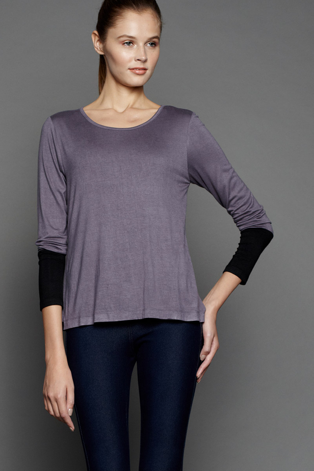 Cynthia Top Grey/Black