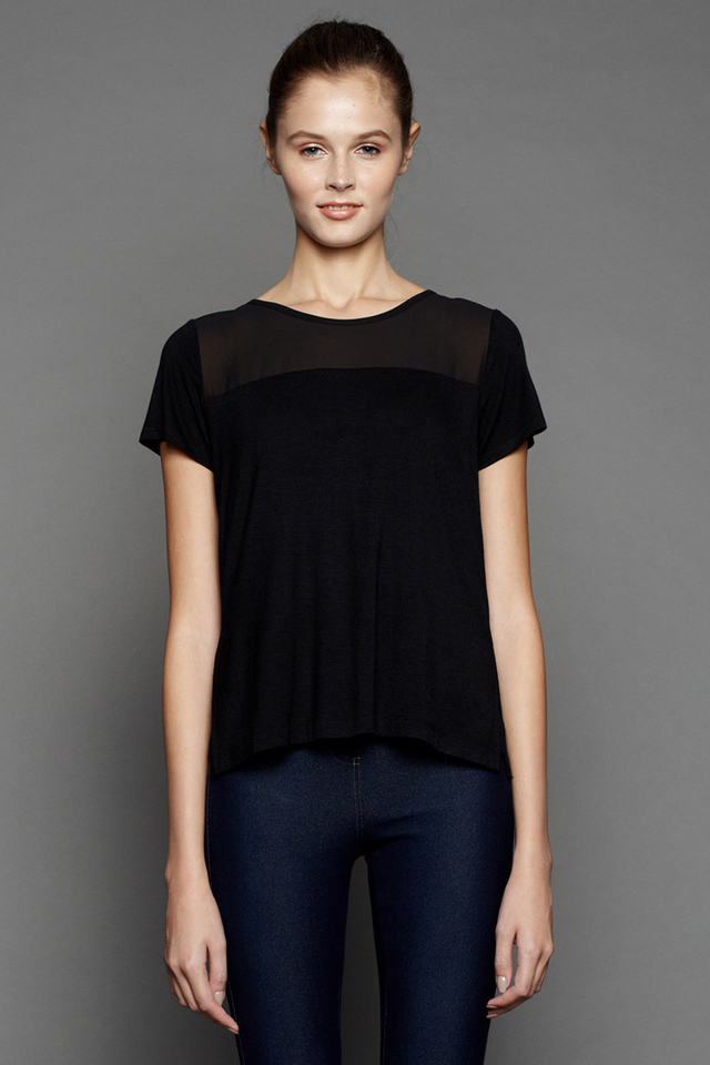 Rowena Cowl Top Black