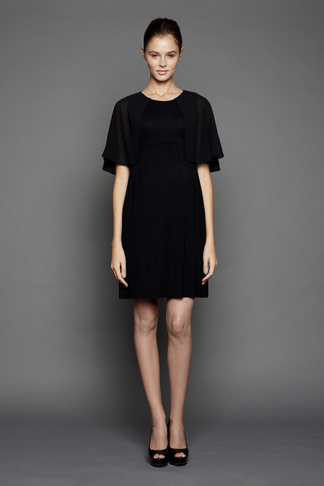 Marie Cape Dress Black