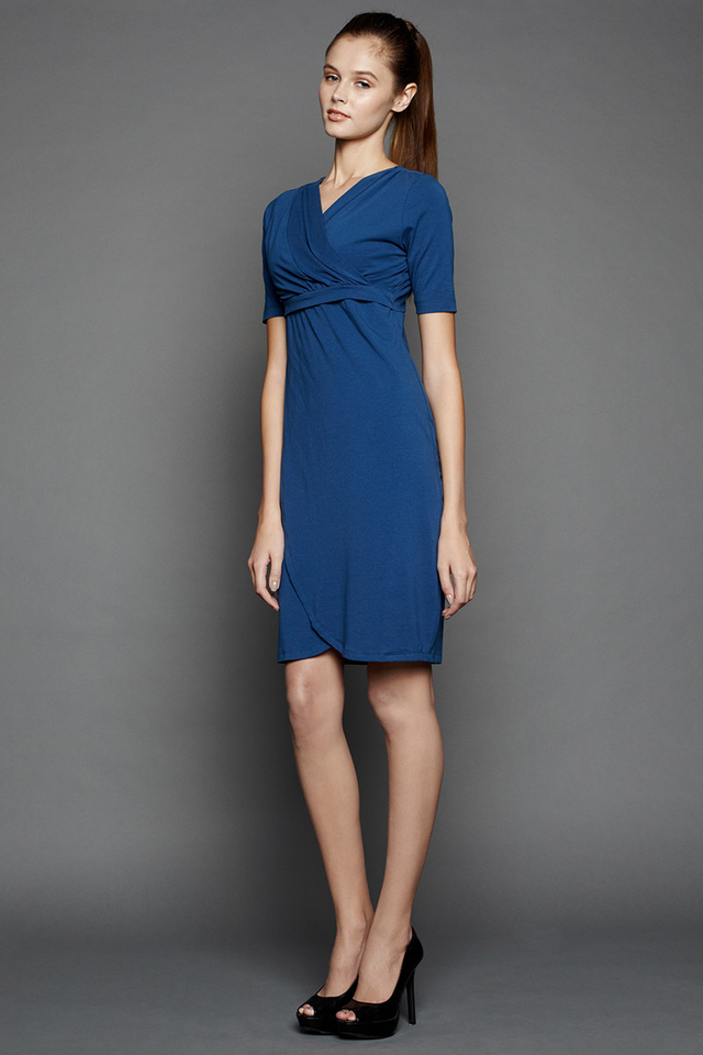 Ellen Wrap Dress Teal