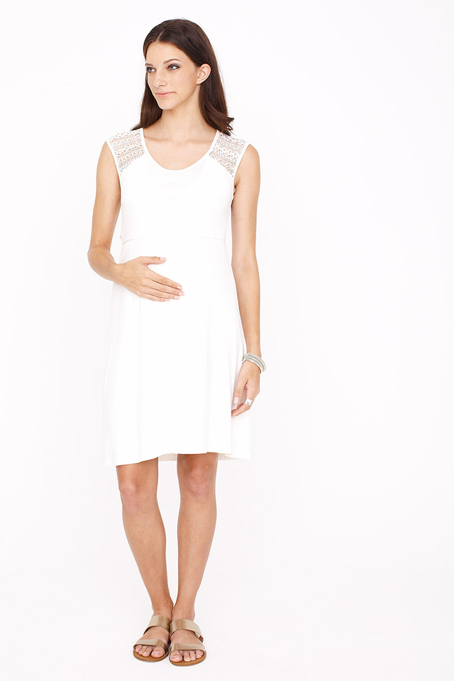 Meredith Dress Cream